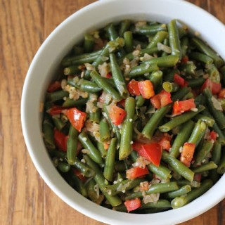 Lemon & Tomato Green Beans