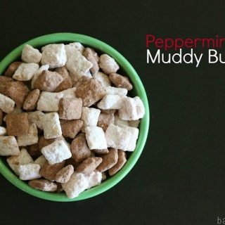 Peppermint Bark Muddy Buddies
