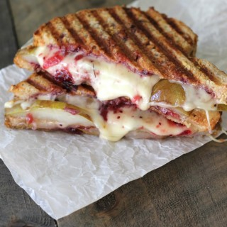 Caramelized Pear & Cranberry Panini