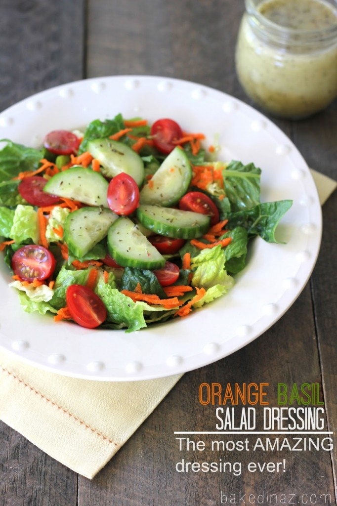 Orange Basil Salad Dressing | Baked in AZ
