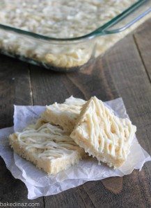 white chocolate rice krispy treats