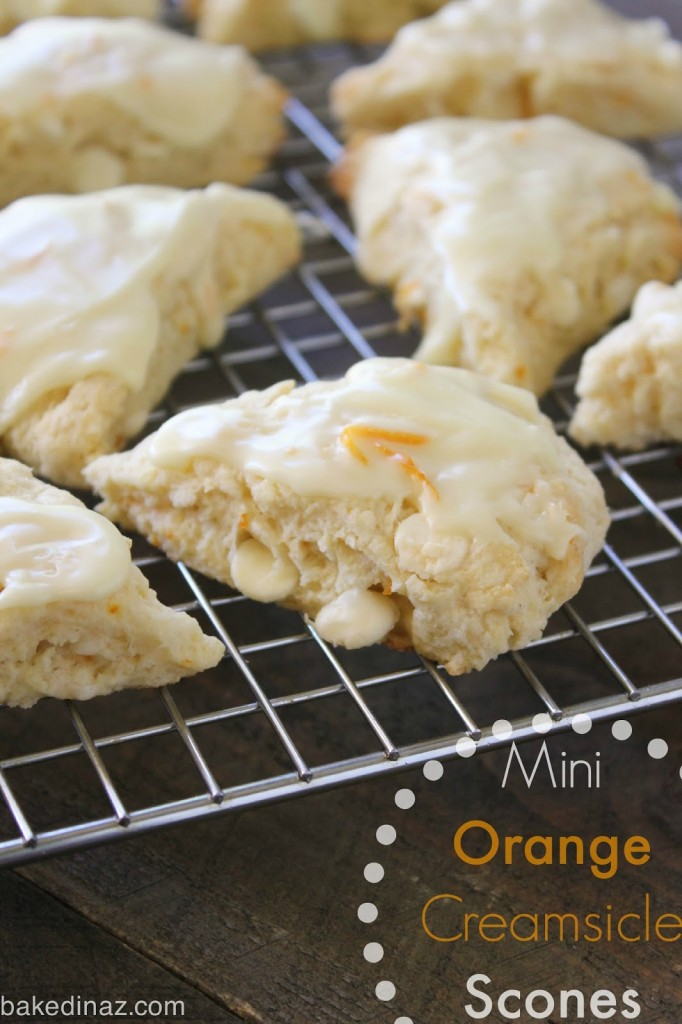 Orange Creamsicle Scones | Baked in AZ