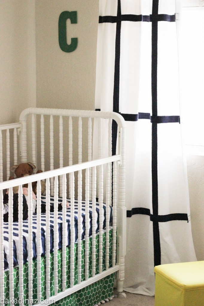 just spray painted the wood green the cute little bear in the crib. Black Bedroom Furniture Sets. Home Design Ideas