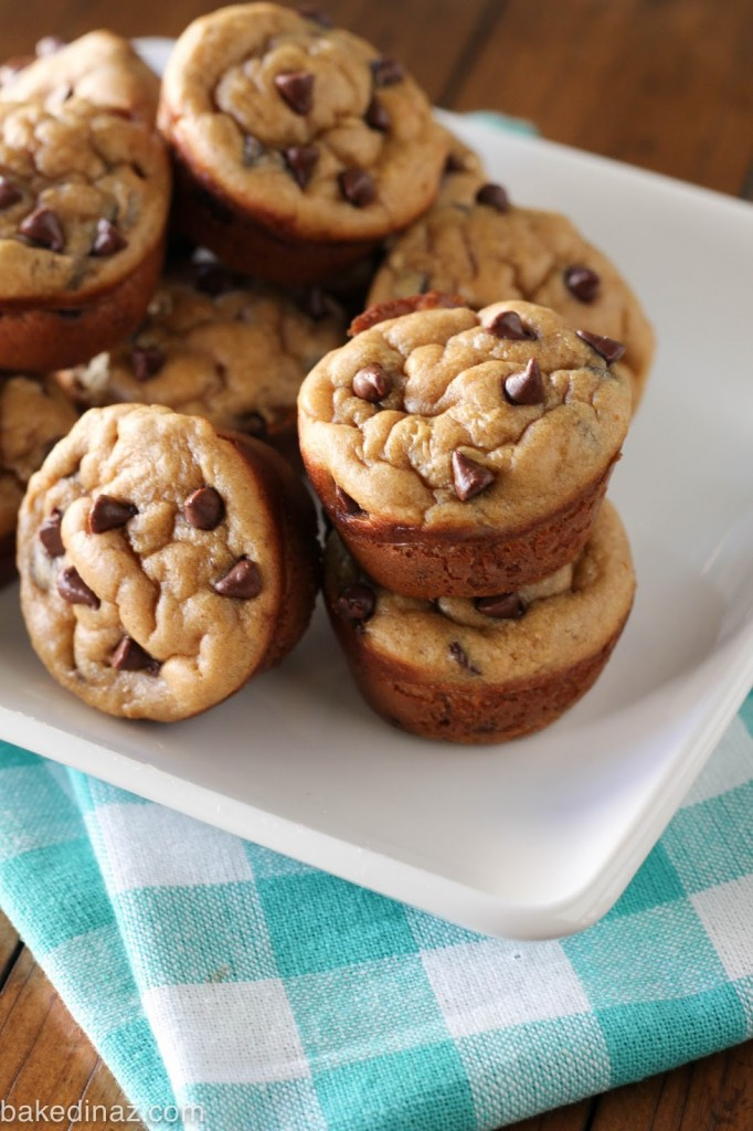 into a blender and you will have peanut butter/banana mini muffins ...