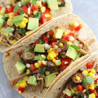 Slow Cooker Pork Tacos with Fresh Corn Salsa