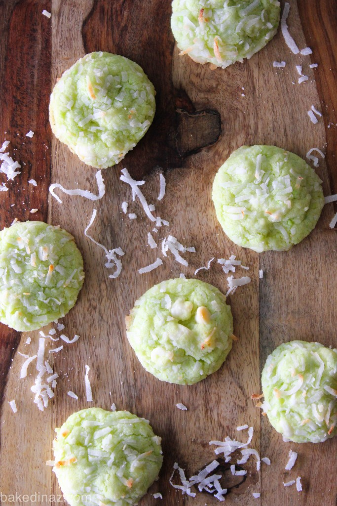 Key Lime Cookies with coconut & white chocolate - made with coconut oil!