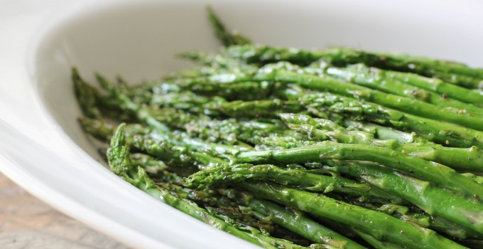 Roasted Asparagus with Lemon Vinaigrette