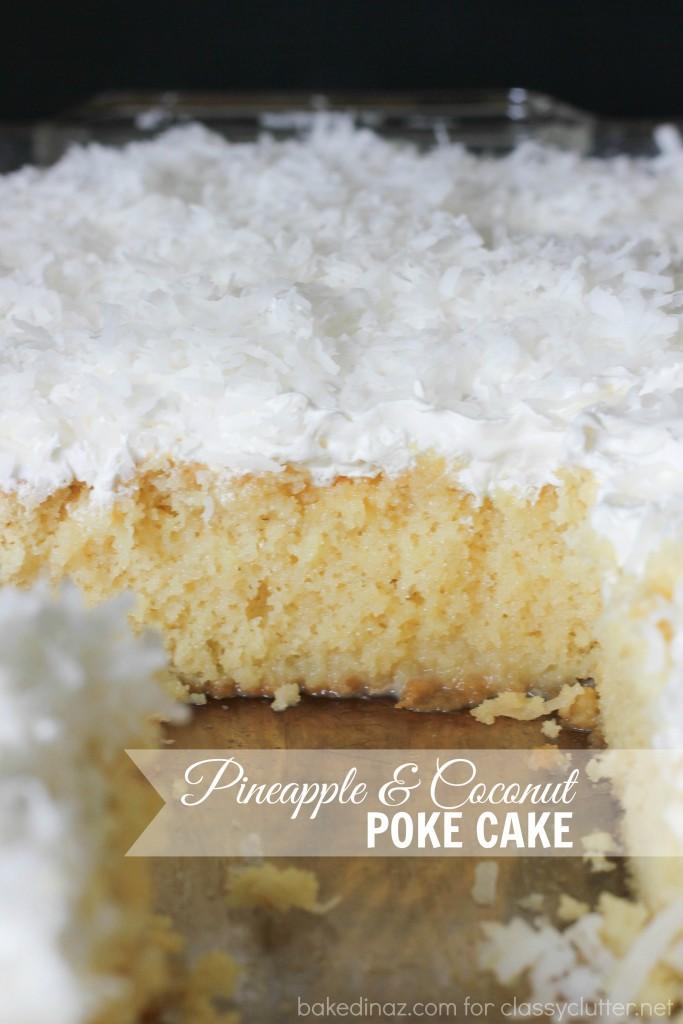 pineapple & coconut poke cake