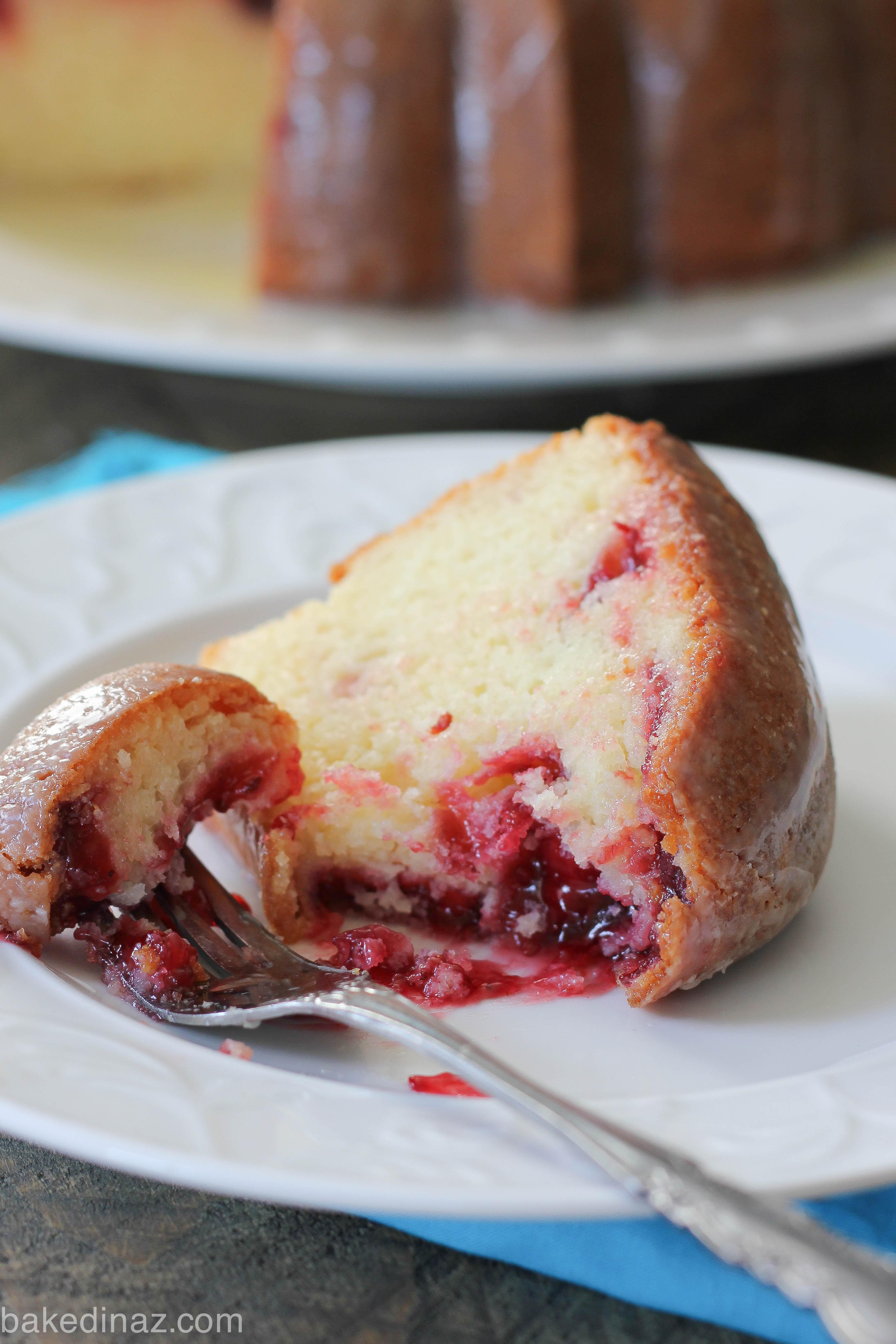 White Chocolate Raspberry Bundt Cake Baked In Az