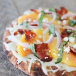 Peach & Bacon Pizza