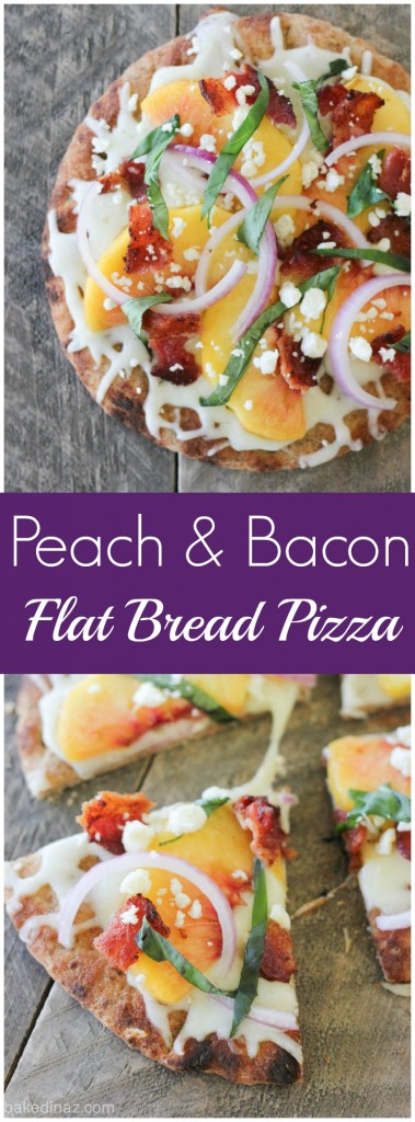 Peach & Bacon Flat Bread Pizza