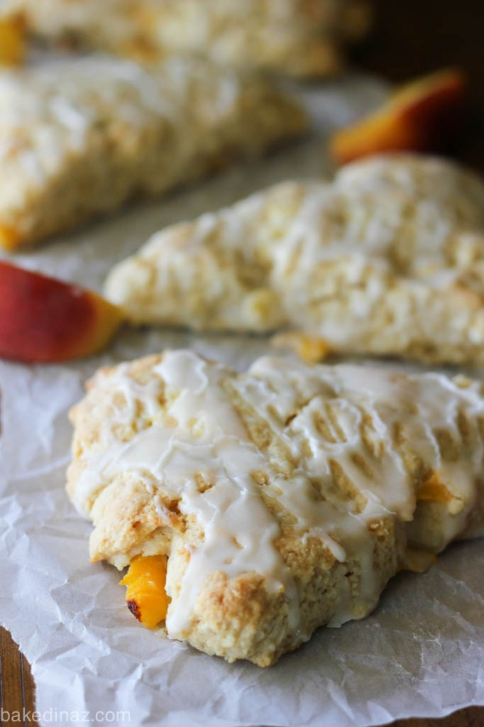 Peach Cream Scones-5