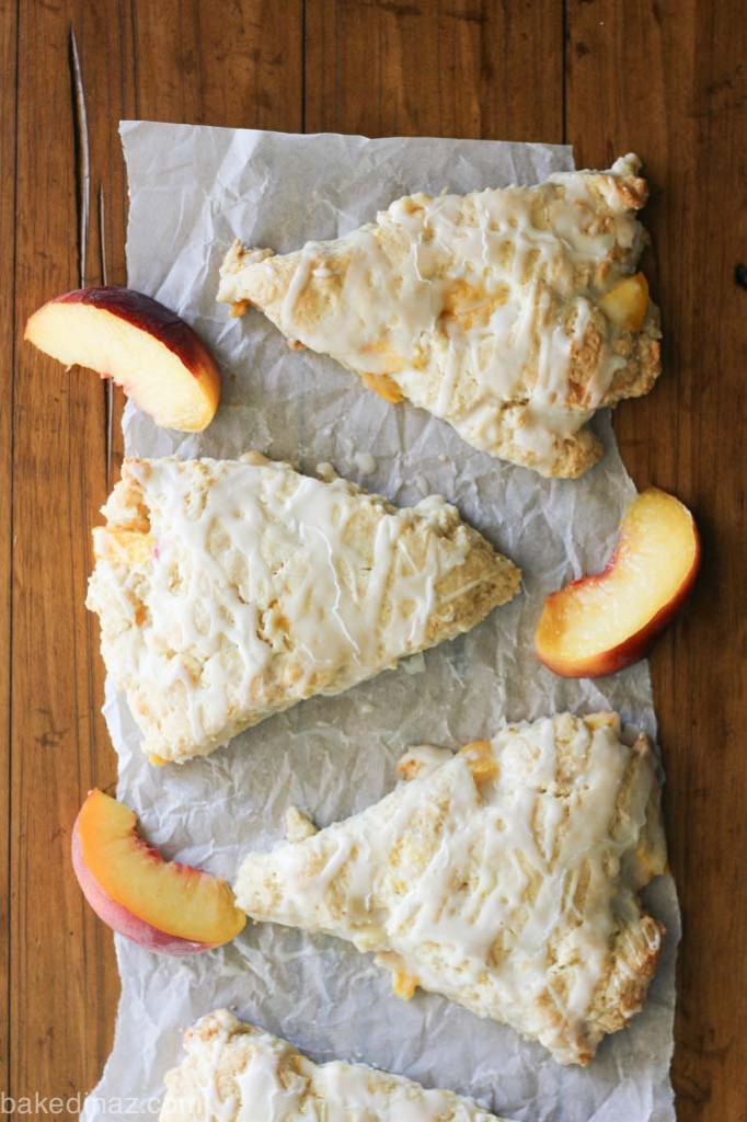Peach Cream Scones-6