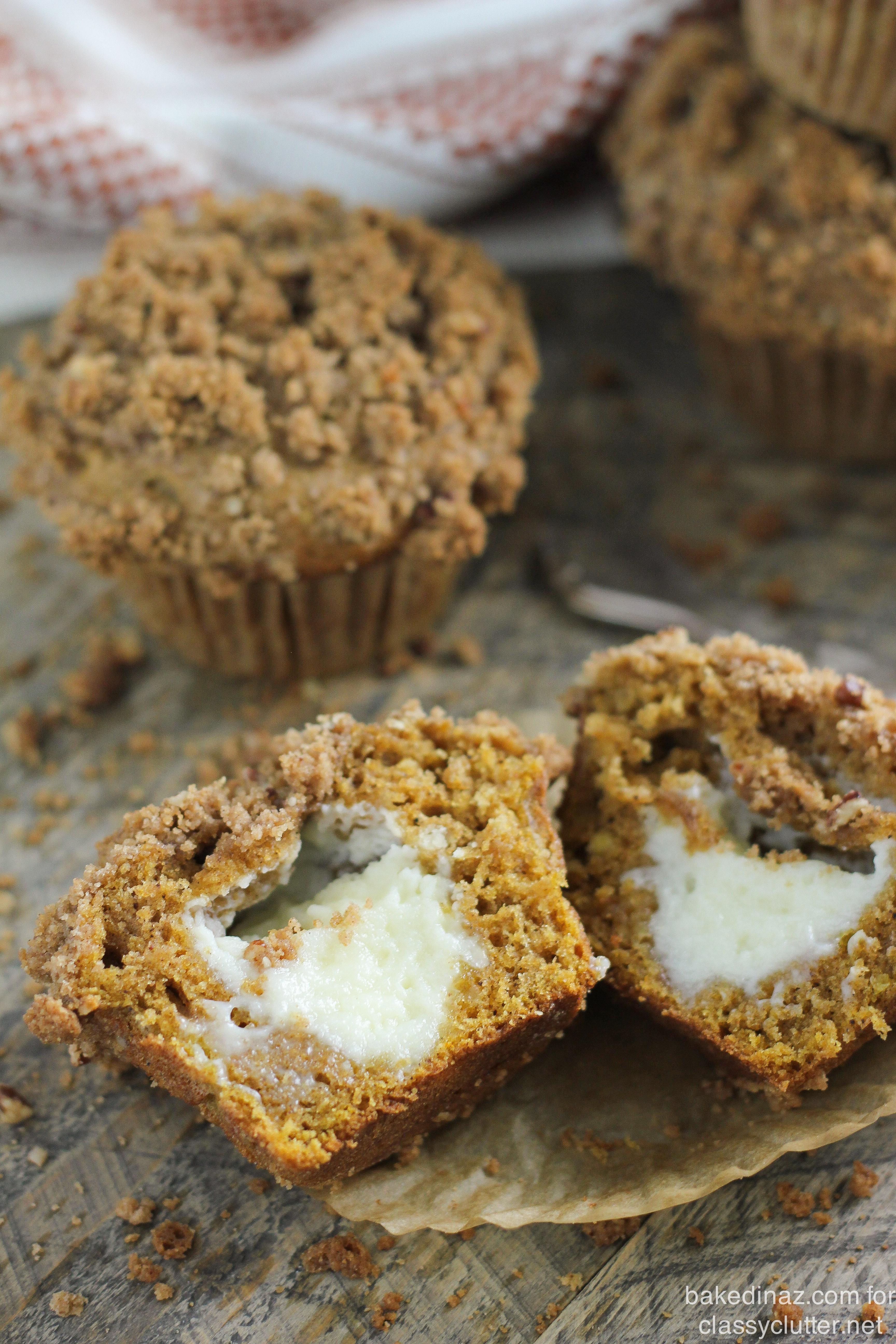 Pumpkin Cream Cheese Muffins - Classy Clutter