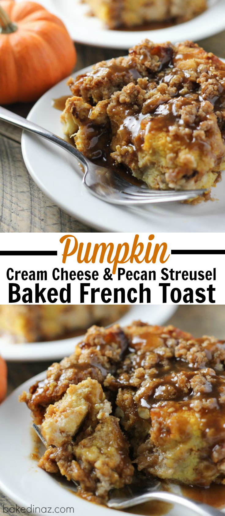 Overnight Pumpkin Cream Cheese French Toast