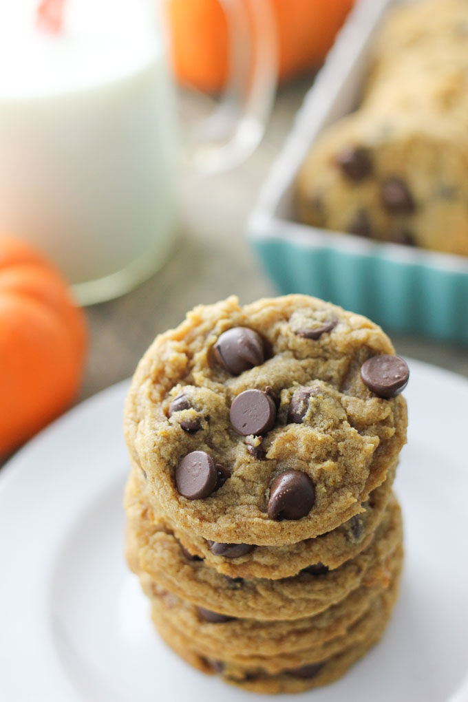 Chewy Pumpkin Chcolate Chip Cookies-2