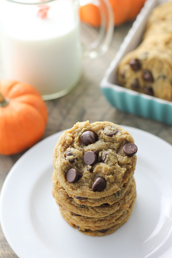 Chewy Pumpkin Chcolate Chip Cookies-3