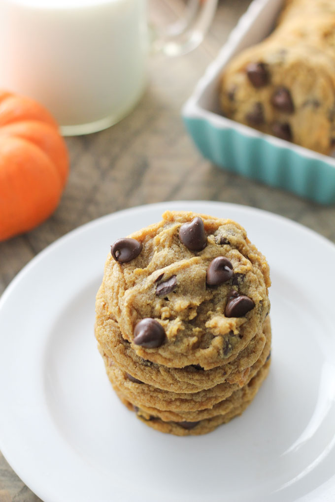 Chewy Pumpkin Chcolate Chip Cookies-4