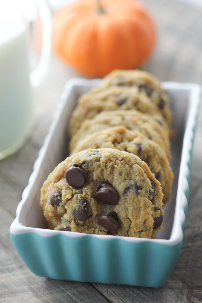 Chewy Pumpkin Chcolate Chip Cookies-5
