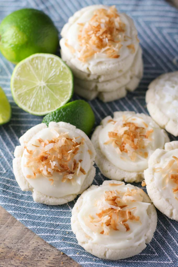 Coconut and Lime Swig Sugar Cookies | Baked in AZ