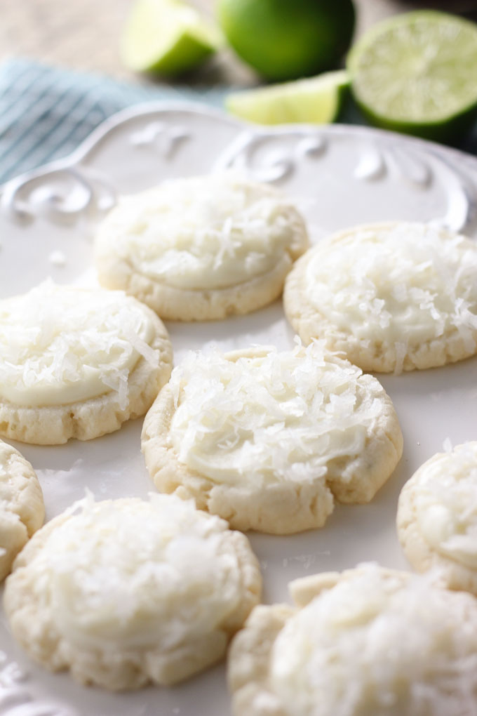 Coconut Lime Swig Sugar Cookies