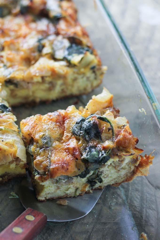 Overnight Croissant Breakfast Casserole