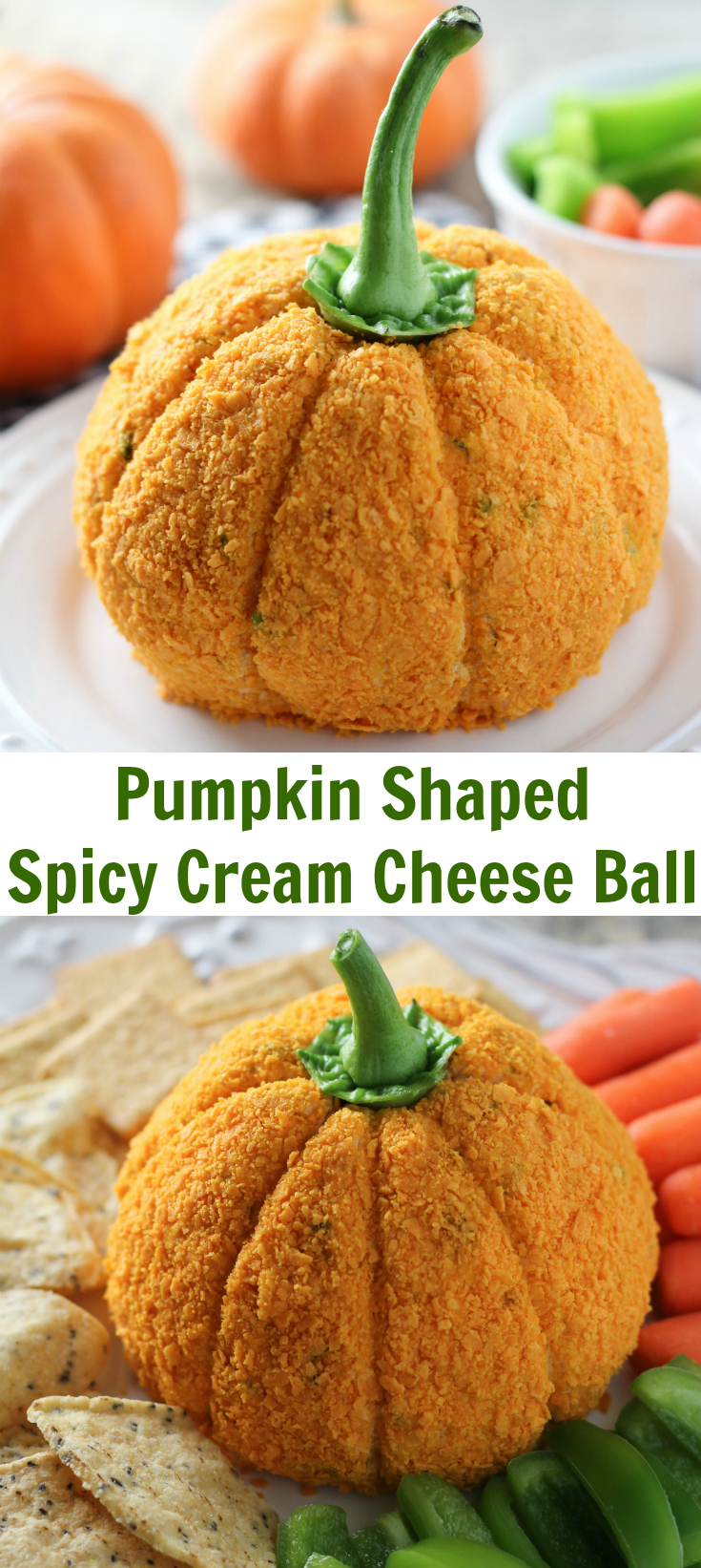 Pumpkin Shaped Cream Cheese Ball
