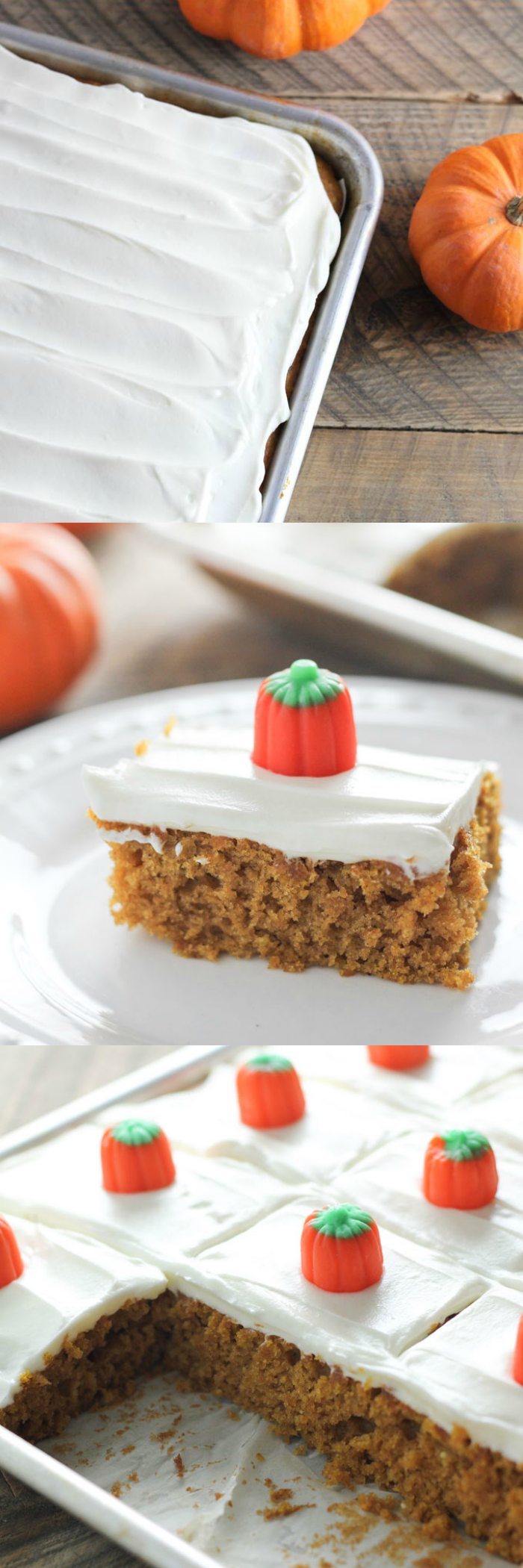 Pumpkin Spice Sheet Cake Bars