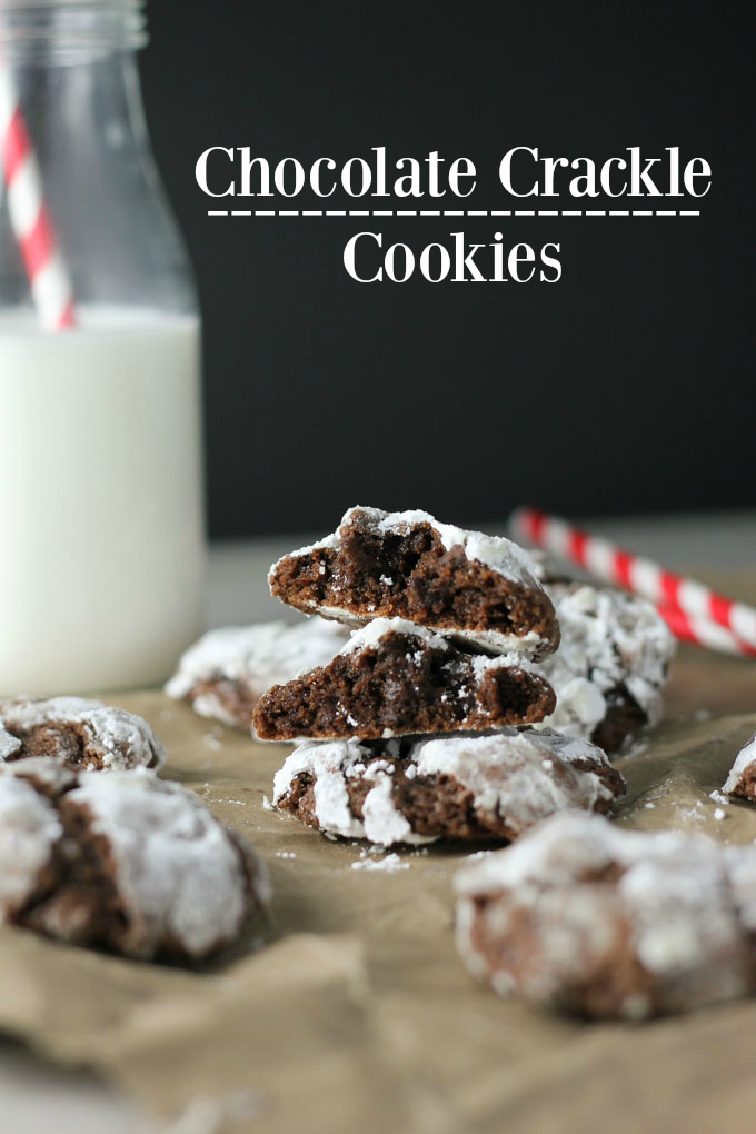 Chocolate Crackle Cookies | Baked in AZ