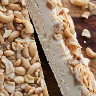White Chocolate Fudge with Cashews