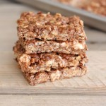 No Bake Chocolate Oat Crispy Bars-3