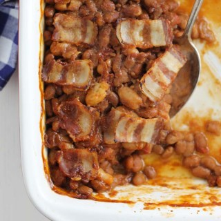 Backyard Barbecue Baked Beans with Bacon
