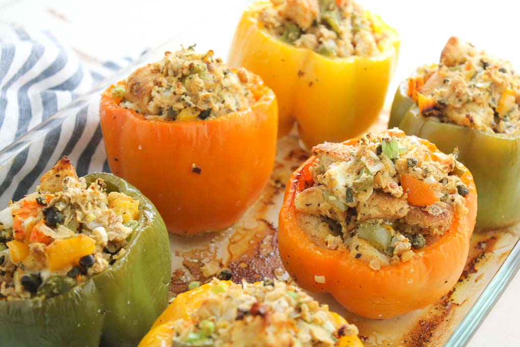 Meatless Stuffed Peppers-3