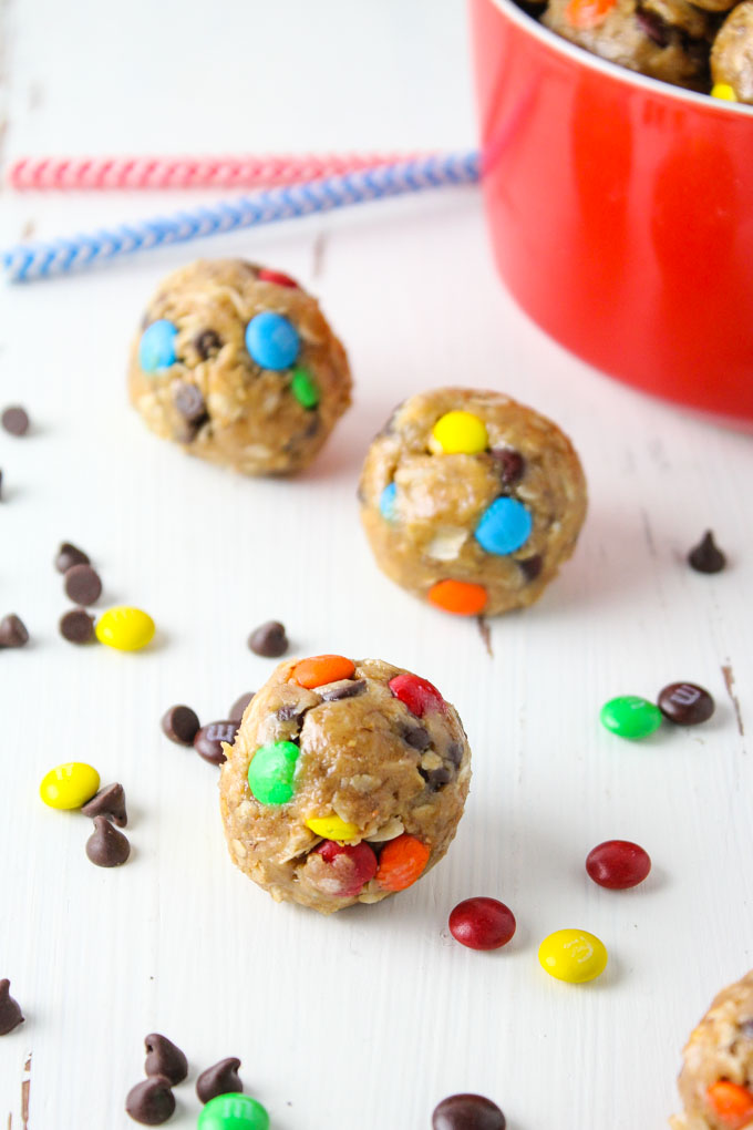 Healthy Monster Cookie Granola Bites