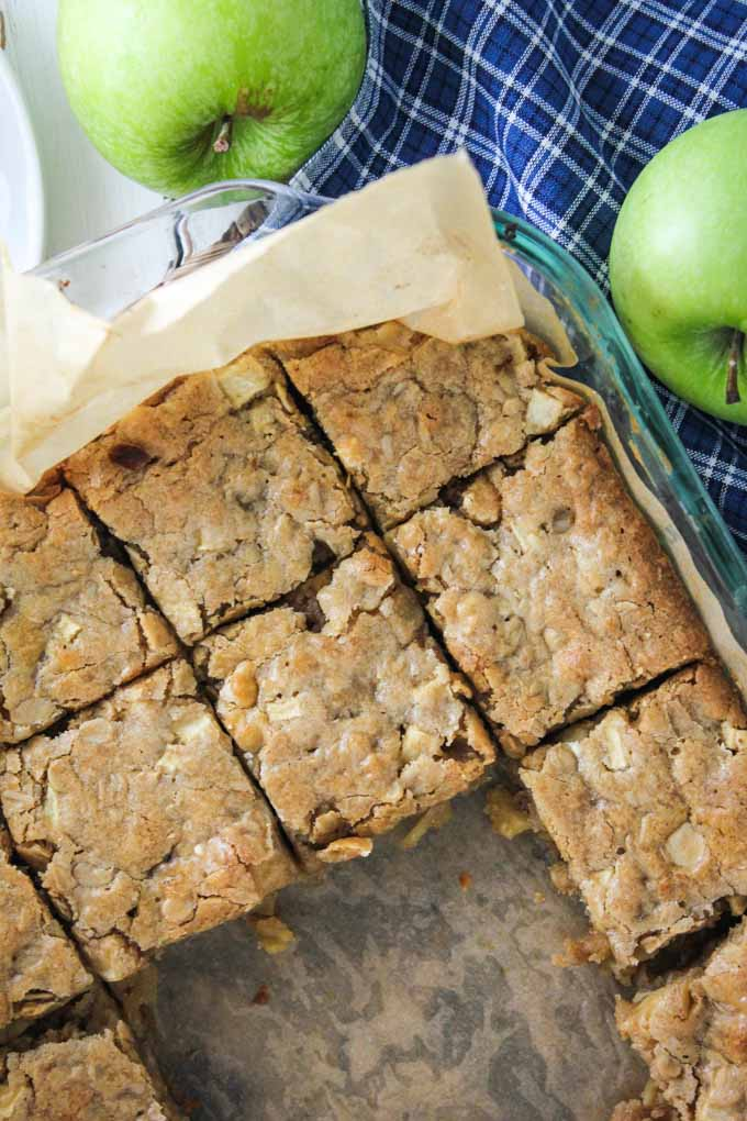 Apple Butterscotch White Chocolate Blondies-3
