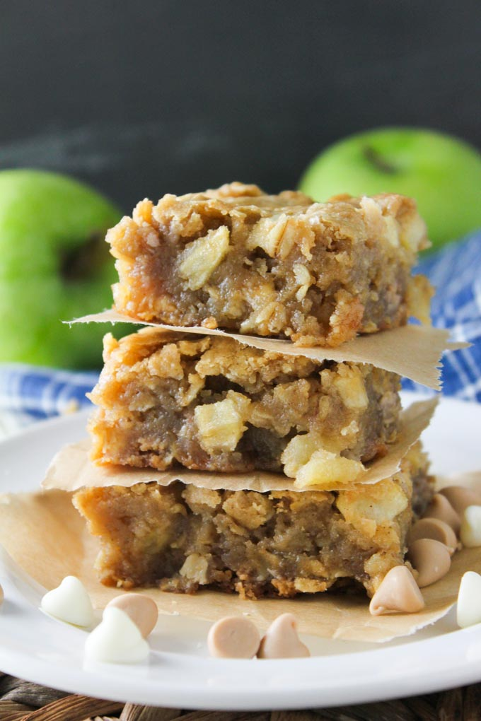 Apple Butterscotch White Chocolate Blondies