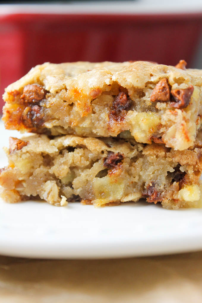 Apple Cinnamon Oat Blondies-2