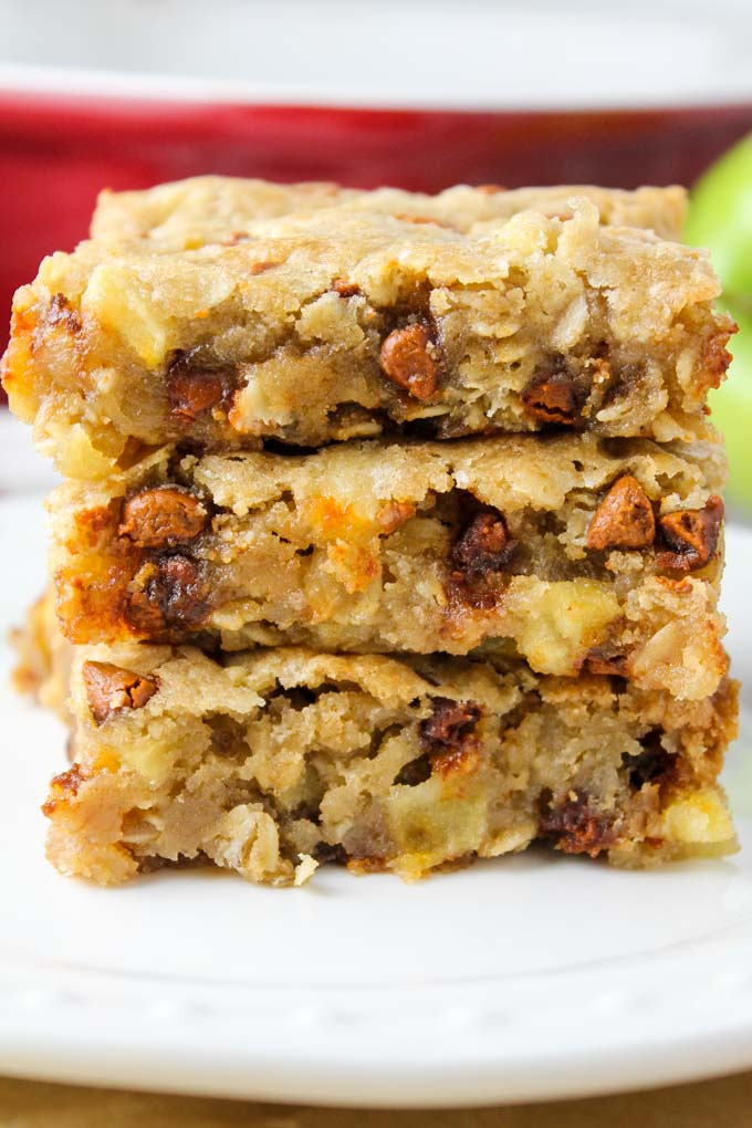 Apple Cinnamon Oat Blondies-3