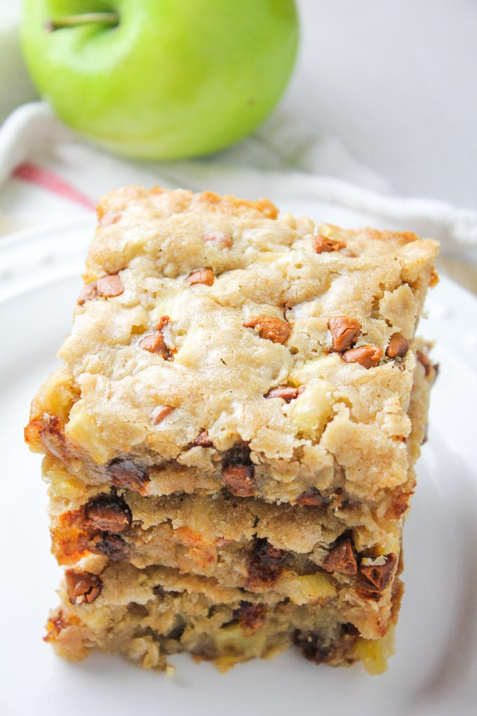 Apple Cinnamon Oat Blondies top