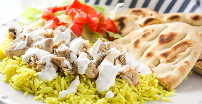 The Halal Guys Chicken & Rice with White Sauce
