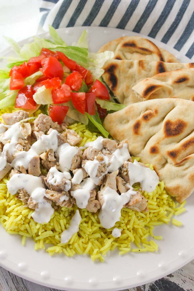 The halal guys chicken rice with white sauce baked in az halal guys chicken and rice m forumfinder Images
