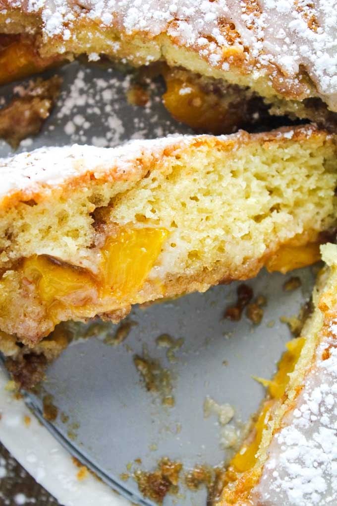 Disappearing Peach Coffee Cake
