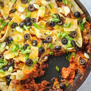 Skillet Beef Enchiladas