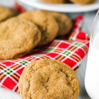 Soft Ginger Cookies with White Chocolate