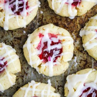 Prickly Pear Orange Pecan Shortbread Thumbprint Cookies