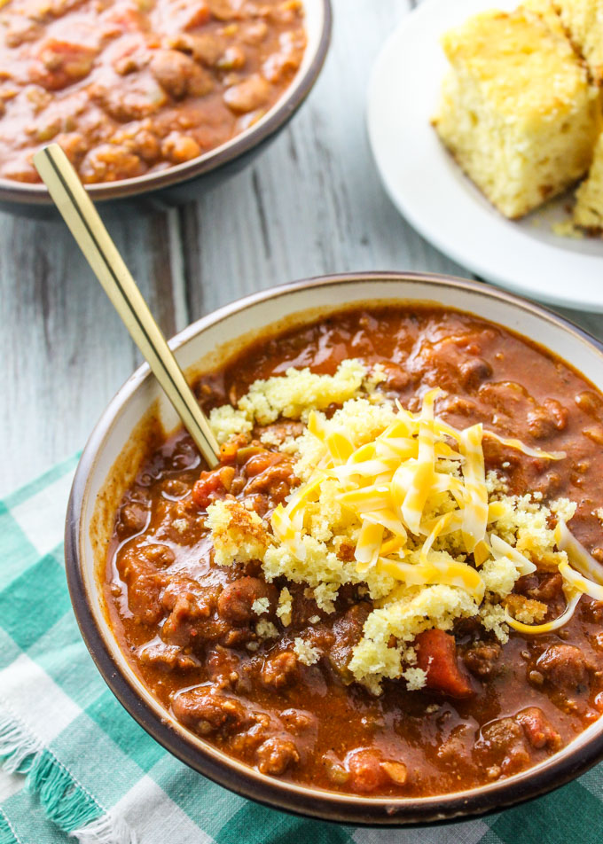 Classic Red Chili The Best Homemade Chili Recipe Baked In Az