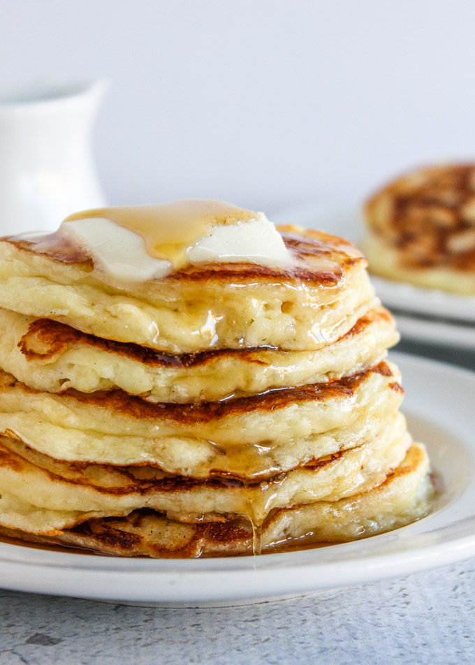 Buttermilk Pancakes With Sour Cream Light Fluffy Baked In Az
