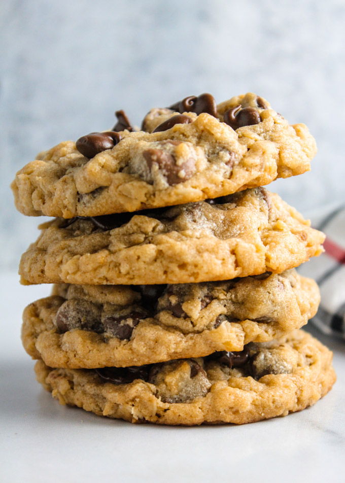Peanut Butter Oatmeal Chocolate Chip Cookies Baked In Az