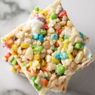 Fruity Pebble Rice Crispy Treats