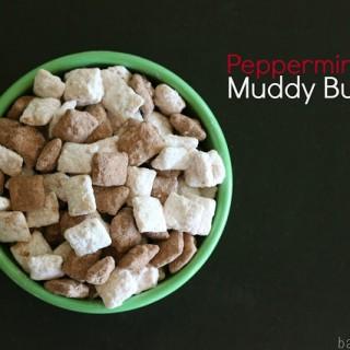 Peppermint Bark Muddy Buddies